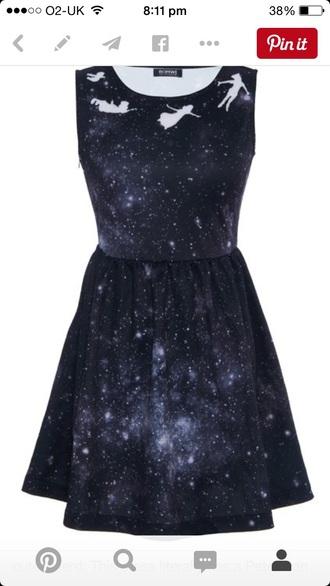 dress peter pan dress galaxy dress
