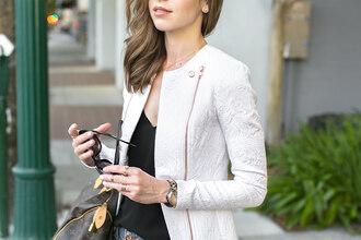 jacket white jacket white blazer undefined white jacket white bralette white shorts sheer