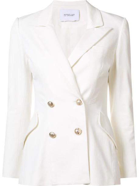 DEREK LAM 10 CROSBY blazer women white cotton jacket
