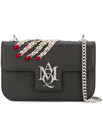women embellished clutch black bag