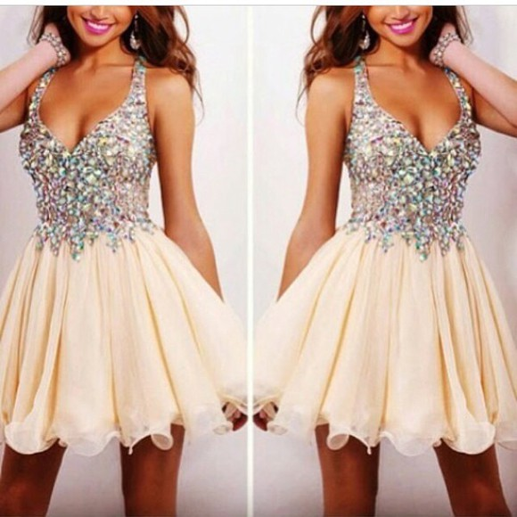 sequin jewels short dress