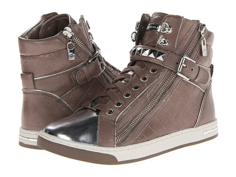 Michael michael kors glam studded high top dark cement quilted vintage leather