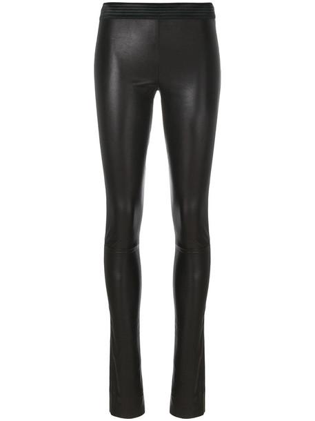 DROME women leather black pants