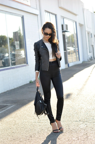 hapa time shoes bag top jewels blogger jacket sunglasses