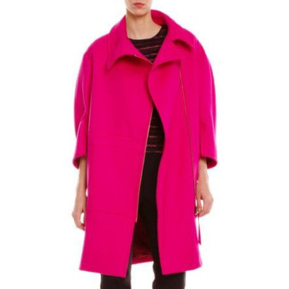 jacket winter outfits hot pink wool fall
