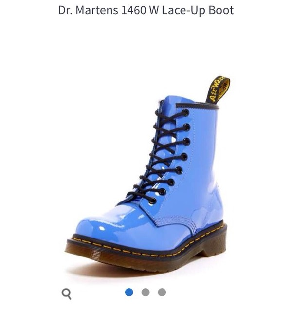 shoes DrMartens light blue boots combat boots