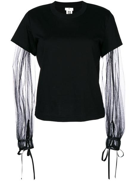COMME DES GARÇONS NOIR KEI NINOMIYA t-shirt shirt t-shirt women cotton black top