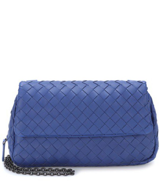 Bottega Veneta bag shoulder bag leather blue