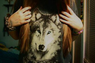 t-shirt wolf oversized t-shirt