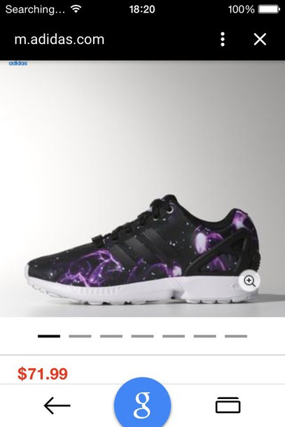 shoes purple black adidas