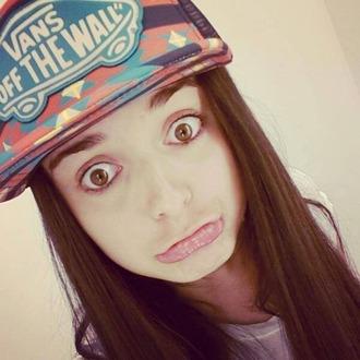 hat cap girl boyish cute kawaii vans cool trendy vans of the wall