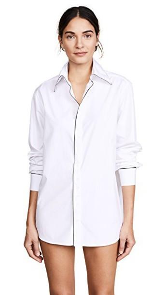 Kiki de Montparnasse shirt new boyfriend classic white top