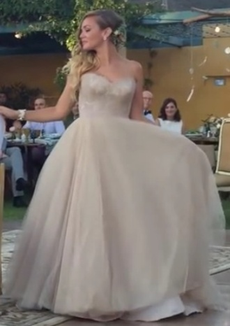 dress champagne wedding dress unusual