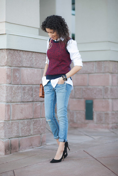 alterations needed blogger sweater jacket shirt jeans shoes bag jewels