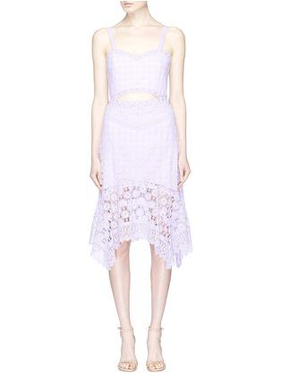 alice   olivia | 'Tamika' cutout floral guipure lace handkerchief dress | Women | Lane Crawford - Shop Designer Brands Online