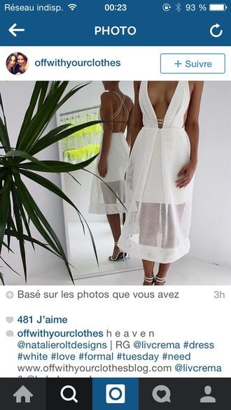 dress white white dress topless party whitedress white dress toplessback