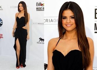 black dress selena gomez prom dress celebrity style dress