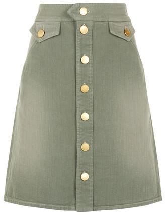 skirt cotton green