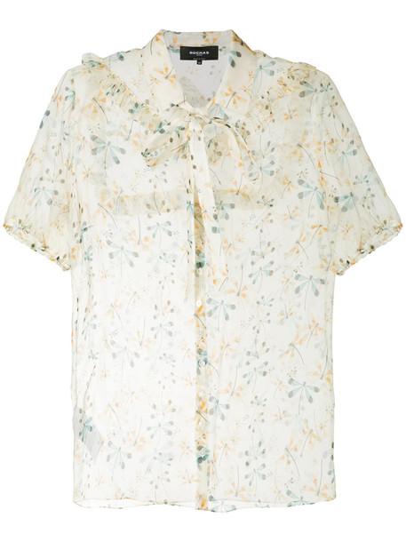 Rochas shirt women dragonfly print silk top