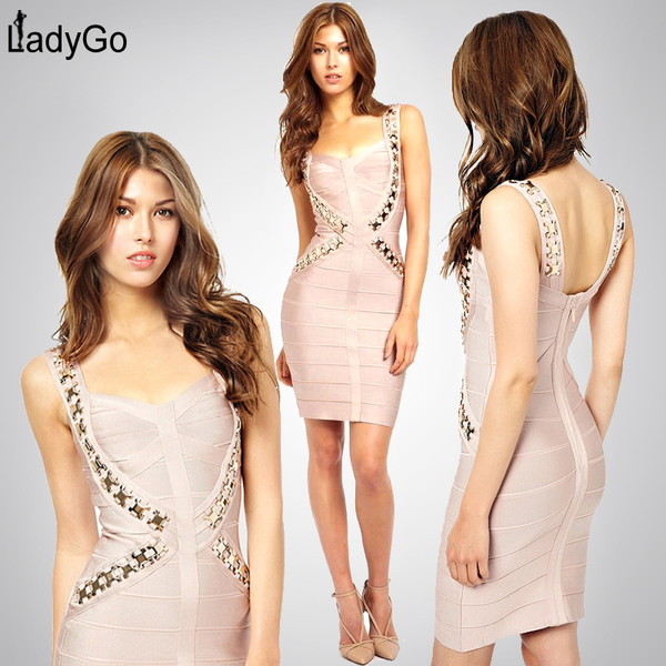 bandage dress party dress beaded dress