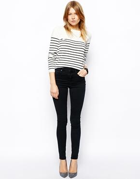 ASOS | ASOS Ridley High Waist Ultra Skinny Jeans in Washed Black at ASOS