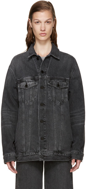 Alexander Wang jacket denim grey