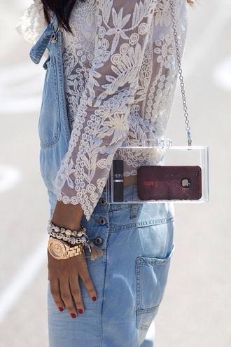 bag blouse see through women shoulder bags little shoulder bag