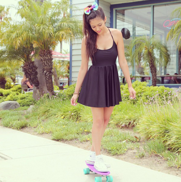 little black dress dress skater