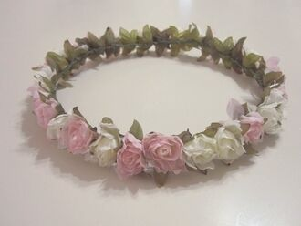 hat hair hair accessory flowers flower crown crown clothes romantic boho beautiful vintage