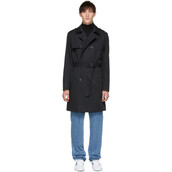 coat,trench coat,black