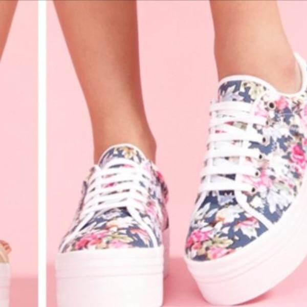 shoes creepers platform shoes floral# floral
