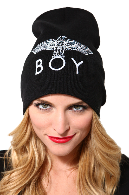Boy London Slouchy Beanie in Black