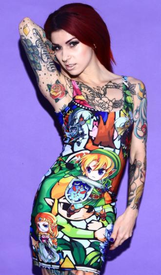 dress zelda geek bright tattoo