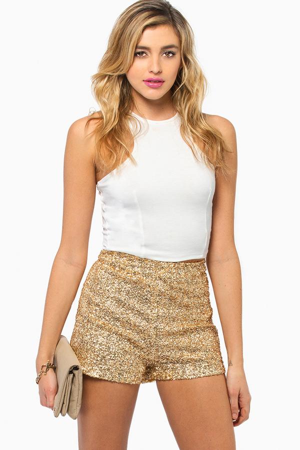Diva Sequin Shorts $58