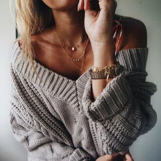 sweater pullover knitted sweater cable knit com oversized girly winter outfits cute christmas