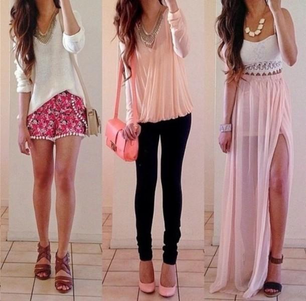 df573f9b5f7de blouse jeans dress pink black shorts floral top sweater bag skirt shoes  jewels shirt t-