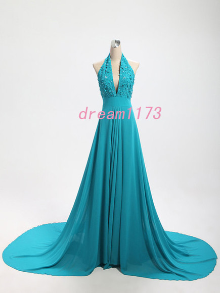 evening dress sexy evening dress v-neck dress hunter dress long chiffon dress