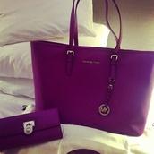 bag,micheal kors bag,michael kors,purple,wallet