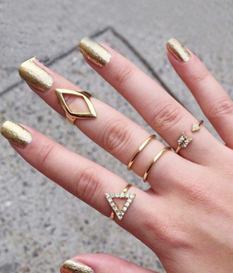 jewels gold ring the bling ring gold midi rings midi rings hand jewelry jewelry rings jewelry ring fashion jewelry rhinestones geometric ring