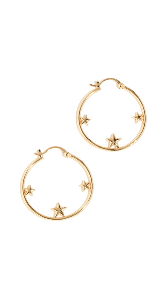 Shashi Virgin Hoop Earrings in gold