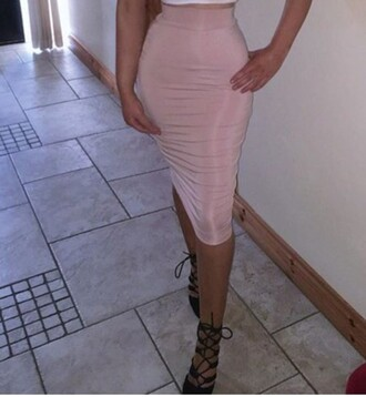 skirt pink skirt midi skirt midi bodycon cute summer outfits summer holidays tight pencil skirt