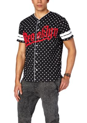 Polka dot brooklyn baseball jersey