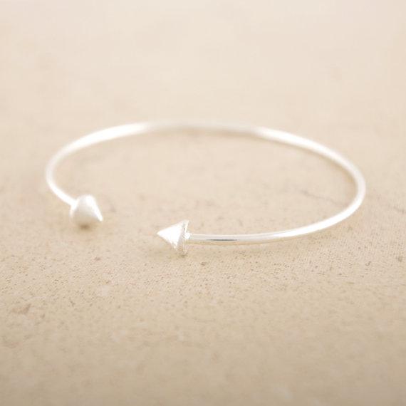 Spike bracelet cuff in silver by bkandjio on etsy