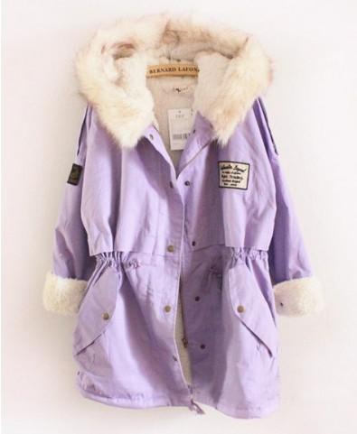 Longline Cotton Padded Thickening Coat - Clothing