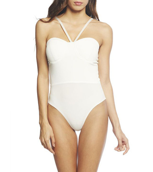 Front strap crossover bodysuit