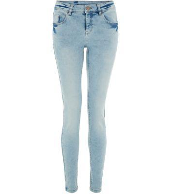 Light Blue Bleached Super Skinny Jeans