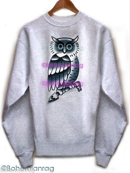 Justin bieber owl tattoo sweatshirt new bohemianrag for Justin bieber tattoo sweatshirt