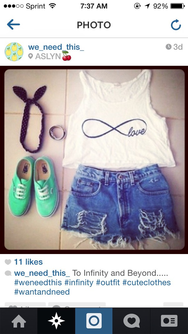 shirt infinity love crop tops white
