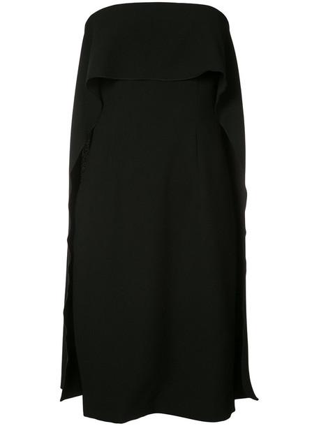 TRINA TURK dress strapless women spandex black