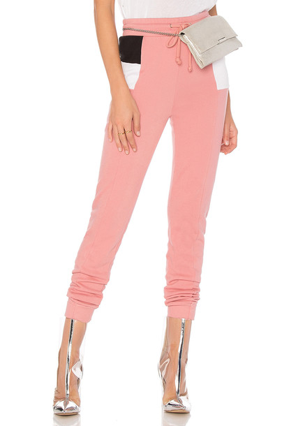Wildfox Couture colorblock pink pants